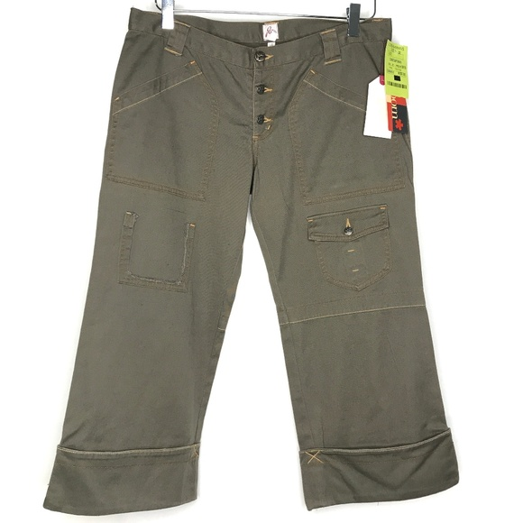 Joie Denim - NWT Joie Olive Green Cropped Denim Jeans A170437
